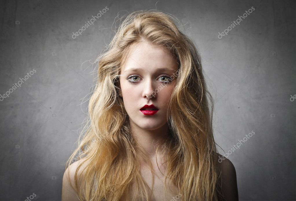 A beautiful makeup woman is watching the lens. — Stock Photo #11125838