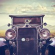 Stock Photo: Front Vintage Car
