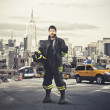 New York's Fireman — Stock Photo