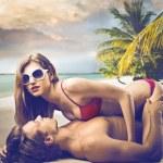 sexo na praia — Foto Stock