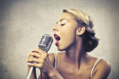 Cute Singer — Stock Photo