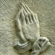 Praying Hands On Gravestone — Stock Photo #11925555