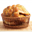 Bread in basket — 图库照片