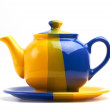 Teapot on white — 图库照片