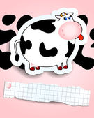 Cartoon cow background — Stock Vector