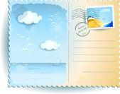 Sea postcard — Stock Vector
