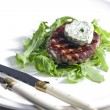 Grilled beefsteak with herbal butter — Stockfoto #10764282