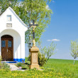 Chapel with a cross, Vlcnov, Czech Republic - Stock Photo