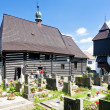 Wooden church in Slavonov, Czech Republic - Stock Photo