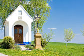 Chapel with a cross, Vlcnov, Czech Republic — Stock Photo