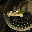 Wine still life, Biza winery, Cejkovice, Czech Republic - Stock Photo