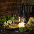 Still life in wine cellar, Bily sklep rodiny Adamkovy, Chvalovic — Stock Photo