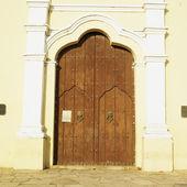 Detail of San Juan Bautista de Remedios's Church, Parque Marti, — Stok fotoğraf