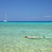 Snorkeling, Maria la Gorda, Pinar del Rio Province, Cuba — Stock Photo