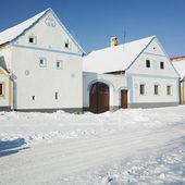 Holasovice in winter, Czech Republic — Stock Photo