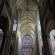 Interior of Cathedral Notre Dame, Amiens, Picardy, France - Stock Photo