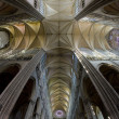 Interior of Cathedral Notre Dame, Amiens, Picardy, France — Stock Photo