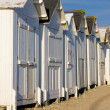 Huts on the beach, Bernieres-s-Mer, Normandy, France — Stock Photo