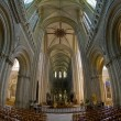 Interior of Cathedral Notre Dame, Bayeux, Normandy, France — Foto Stock