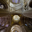 Interior of Cathedral Notre Dame, Coutances, Normandy, France — Stockfoto