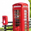 Telephone booth and letter box, Scotland — Stock Photo