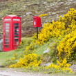 Telephone booth and letter box near Laid, Scotland — Stock Photo #10985932