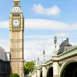 Big Ben and Westminster Bridge, London, Great Britain — Stock Photo
