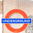 Subway sign, London, Great Britain - Stock Photo