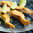 Salmon skewers — Stock Photo #10986551