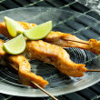 Salmon skewers — Stock Photo #10986553