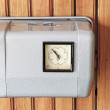 Time clock on the wall — Stock Photo