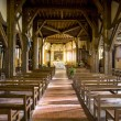 Interior of church in Outines, Champagne, France — Foto Stock