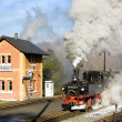 Steam train, Steinbach - Jöhstadt, Germany — Stock Photo