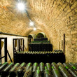 Wine archive, wine cellar in Jaroslavice, Czech Republic — Stock Photo #10988578