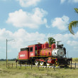 Memorial of steam locomotive, Gregorio Arlee Manalich sugar fact — Stock Photo