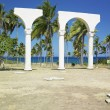 Memorial of Christopher Columbus's landing, Bahia de Bariay, Holguin Province, Cuba — Stock Photo #10989417