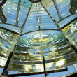 Lighthouse's interior, Fresnel lens, Cayo Paredón Grande, Camaguey Province, Cuba - Stock Photo