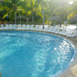 Hotel's swimming pool, Cayo Coco, Cuba — Stock Photo #10989493