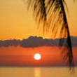 Sunset over Caribbean Sea, Maria la Gorda, Pinar del Rio Province, Cuba — Stock Photo #10989511