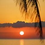 Sunset over Caribbean Sea, Maria la Gorda, Pinar del Rio Province, Cuba — Stock Photo