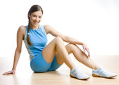 Woman at gym — Stock Photo