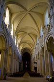 Interior of church Sainte-Trinité, Abbaye aux Dames, Normandy, France — Stok fotoğraf
