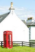 Telephone booth, Laggan, Scotland — Stock Photo