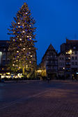 Place Broglie, Christmas time in Strasbourg, Alsace, France — Zdjęcie stockowe