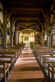 Interior of church in Outines, Champagne, France — Stok fotoğraf