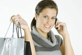 Portrait of shopping girl — Stock Photo