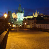 On Charles bridge, Prague, Czech Republic — Stock Photo