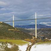The highest bridge in the world, Millau, France — Stock Photo