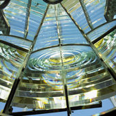 Lighthouse's interior, Fresnel lens, Cayo Paredón Grande, Camaguey Province, Cuba — Stock Photo