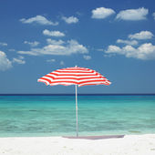Sunshade, Maria la Gorda Beach, Pinar del Rio Province, Cuba — Stock Photo